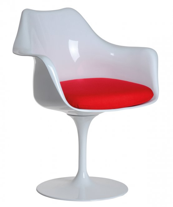 replica tulip chair with arm | murray & wells