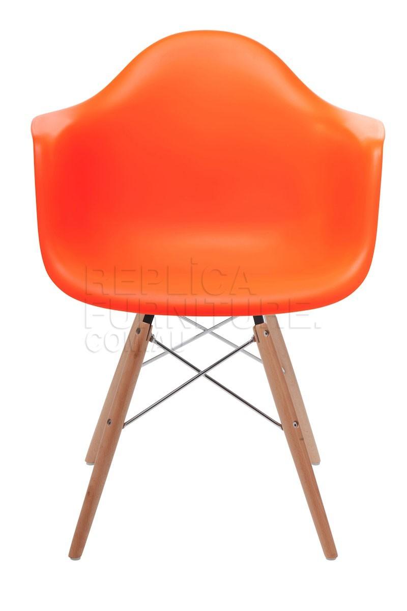Kids del eames arm chair for Orange kids chair