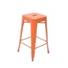 Gloss Orange Tolix Kitchen Stool
