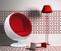 ball chair red