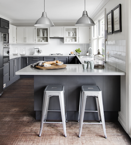 Grey And White Kitchens: Replica Tolix Kitchen Stool