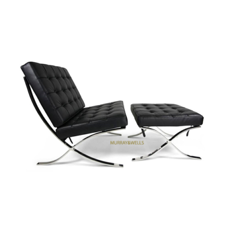 Eames chair and stool black