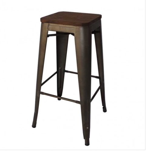 sc 1 st  Murray u0026 Wells & Replica Tolix Wooden seat Bar Stool | Murray u0026 Wells islam-shia.org
