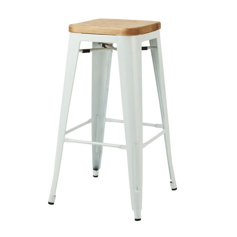 Wood Stools Product ~ Replica tolix wooden seat bar stool murray wells