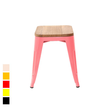 tolix stool with wood seat