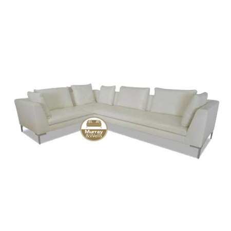 Kimberly L Shape Leather Sofa