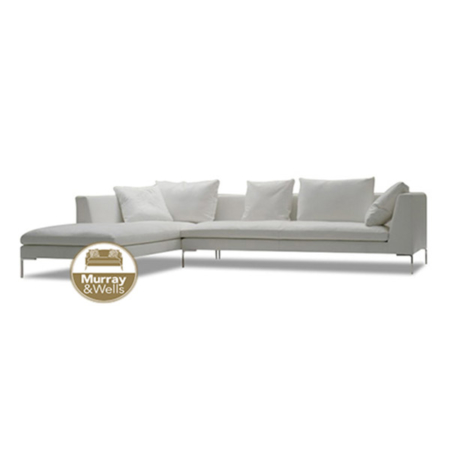 Lizzie L Shape Leather Sofa