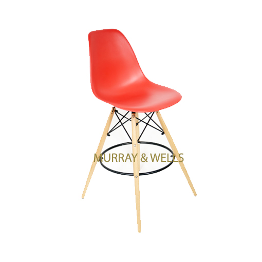 Replica Del Eames Kitchen Stool Murray amp Wells : Del Eames Barstool Red MW from murrayandwells.co.za size 510 x 510 jpeg 60kB