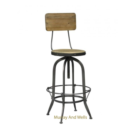 Replica Toledo Stool Adjustable With Back