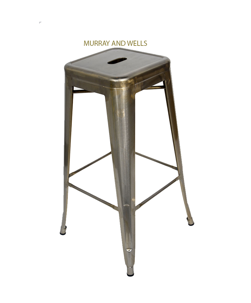 Replica galvanised tolix bar stool for About a stool replica