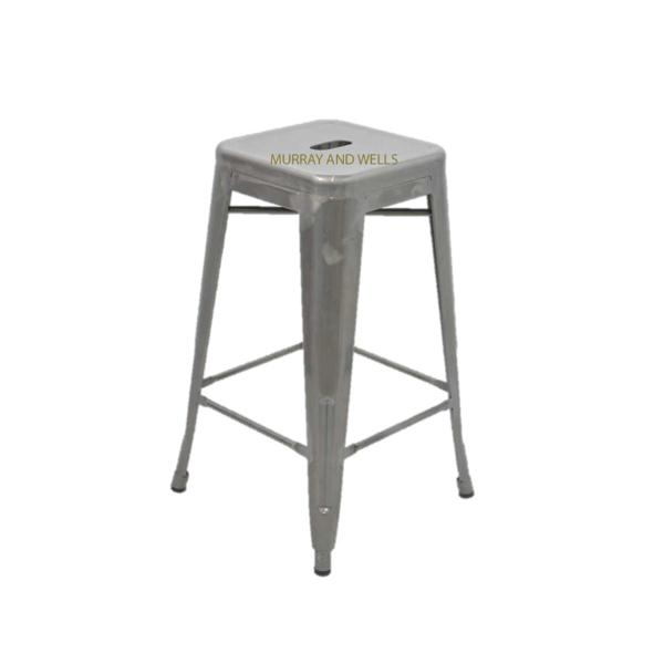 Galvanised kitchen stool