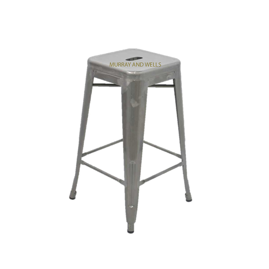 Replica galvanised tolix kitchen stool for Tolix stuhl replik