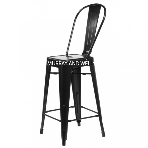 Replica tolix high back stool murray wells - Imitation chaise tolix ...