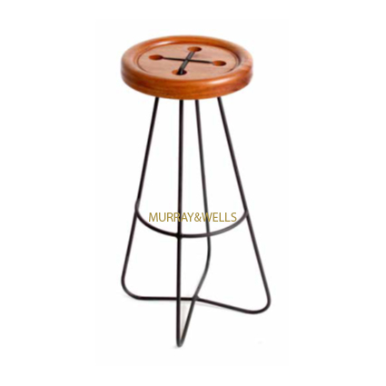 Button Stool Mahog