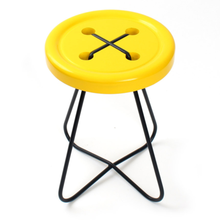 Button Stool Yellow