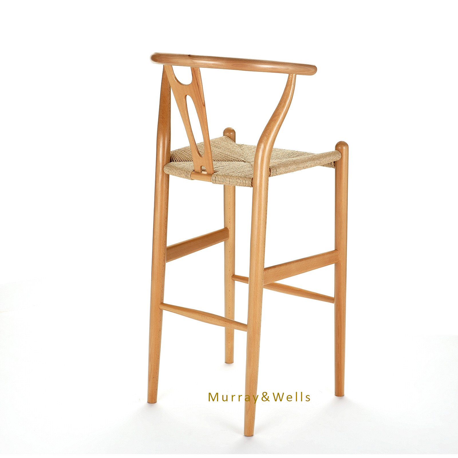 Replica Hans Wegner Wishbone Barstool Murray Amp Wells