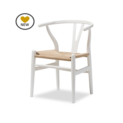 Replica hans wegner wishbone dining chair murray wells - Adorable iconic furniture design adapts black and white color ...