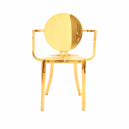 Kong Gold dining chair with arms 1