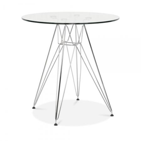 80cm eiffel table glass top