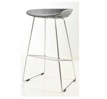 hay kitchen stool with upholstered seat