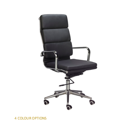 EAMES OFFICE HIGH BACK PADDED OFFICE CHAIR